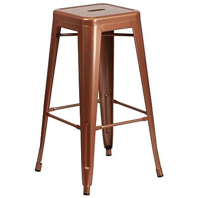 30'' High Backless Copper Indoor-Outdoor Barstool (ET-BT3503-30-POC-GG)