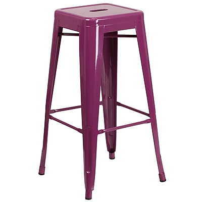 30'' High Backless Purple Indoor-Outdoor Barstool (ET-BT3503-30-PUR-GG)