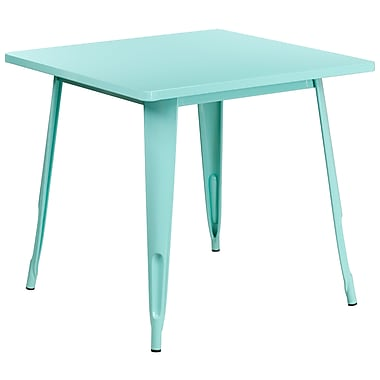 31.5'' Square Mint Green Metal Indoor-Outdoor Table (ET-CT002-1-MINT-GG)