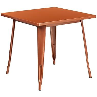 31.5'' Square Copper Metal Indoor-Outdoor Table (ET-CT002-1-POC-GG)