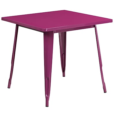 31.5'' Square Purple Metal Indoor-Outdoor Table (ET-CT002-1-PUR-GG)