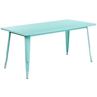 31.5'' x 63'' Rectangular Mint Green Metal Indoor-Outdoor Table (ET-CT005-MINT-GG)