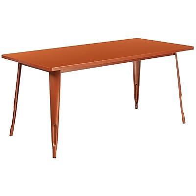 31.5'' x 63'' Rectangular Copper Metal Indoor-Outdoor Table (ET-CT005-POC-GG)