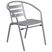 Silver Metal Restaurant Stack Chair with Aluminum Slats (TLH-017C-GG)