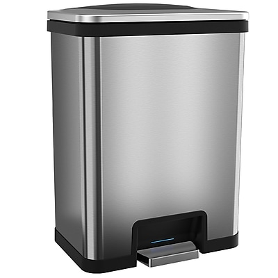 halo™ TapCan® 13 gal. Stainless Steel Sensor Trash Can Black Trim TC13SB