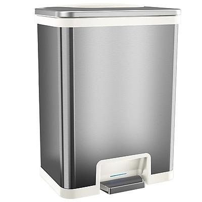 halo™ TapCan® 13 gal. Stainless Steel Sensor Trash Can White Trim TC13SW