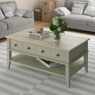 Altra Newport Coffee Table, Light Sage and Brown (3597318PCOM)
