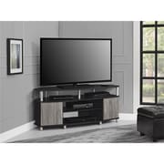 "Ameriwood Home Bennett TV Stand with Glass Doors for TVs up to 70"", Sonoma Oak (1784096P)"