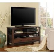 """Altra Carson 70"""" TV Stand, Cherry/Black (1751096P)"""