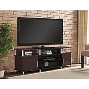 "Ameriwood Home Carson TV Stand, Cherry, For TVs up to 70"" (1751096PCOM)"