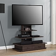 """Ameriwood Home Galaxy TV Stand with Mount and Drawers, Espresso, For TVs up to 70"""" (1762196PCOM)"""