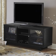 "Ameriwood Home Englewood TV Stand for TVs up to 55"", Black (1222056PCOM)"