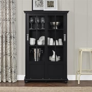 Altra Aaron Lane Bookcase with Sliding Glass Doors, Black (9448496COM)