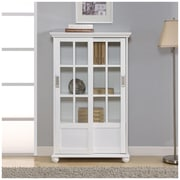 Altra Aaron Lane Bookcase with Sliding Glass Doors, White (9448196PCOM)