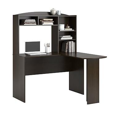 Altra Sutton L Desk With Hutch Espresso 9883303com