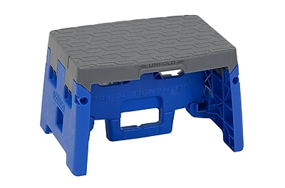 COSCO 1 Step Molded Folding Step Stool, Type 1A, Blue and Gray (11903BGR1E)