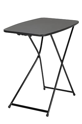 """COSCO 18"""" x 26"""" Indoor Outdoor Adjustable Height Personal Folding Tailgate Table, Black, 2 pack (37129BLK2E)"""