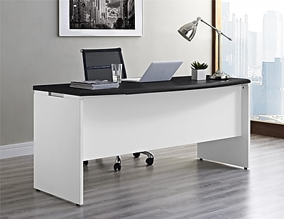 Altra Pursuit Executive Desk WhiteGray 9319296 Staples