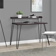 Altra Haven Retro Desk with Riser, Espresso/Gunmetal Gray (9881196COM)