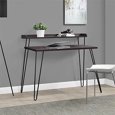 Altra Haven Retro Desk with Riser, Espresso/Gunmetal Gray (9881196COM)