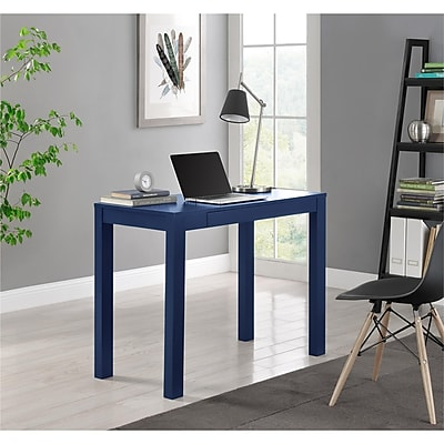 Altra Parson Desk with Drawer, Blue (9859496COM)
