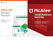 Microsoft Office 365 Business Premium McAfee Small Business Security Bundle for Windows/Mac (1 User) [Download]