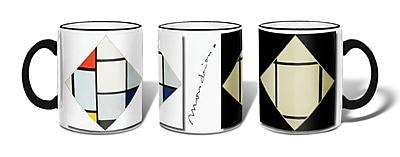 Retrospect Group Left: Composition No.6, Tableau I Ceramic 11 Ounce Mug (MUG088)