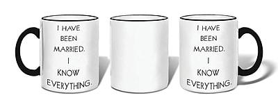 Retrospect Group I HAVE BEEN MARRIED. I KNOW EVERYTHING Ceramic 11 Ounce Mug (MUG183)