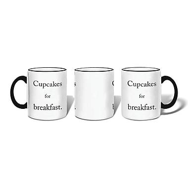 Retrospect Group Cupcakes for breakfast Ceramic 11 Ounce Mug (MUG119)