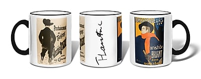 Retrospect Group Ambassadeurs: Aristide Bruant, 1892 & Aristide Bruant dans son cabaret, 1893 Ceramic 11 Ounce Mug (MUG180)