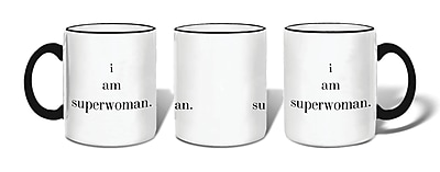 Retrospect Group i am superwoman. Ceramic 11 Ounce Mug (MUG130)