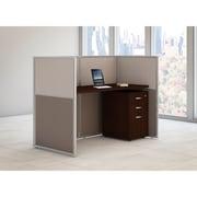 Bush Business Furniture Easy Office 60W Straight Desk Closed Office w/ 3 Dwr Mobile Ped, Mocha Cherry (EOD260SMR-03KFA)