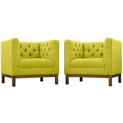 Modway Panache Living Room Set Fabric Set of 2 in Wheatgrass (889654081449)
