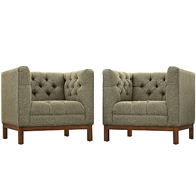 Modway Panache Living Room Set Fabric Set of 2 in Oatmeal (889654081425)