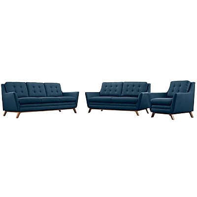 Modway Beguile Living Room Set Fabric Set of 3 in Azure (889654078999)