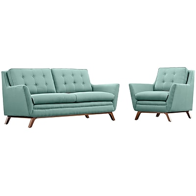 Modway Beguile Living Room Set Fabric Set of 2 in Laguna (889654079095)