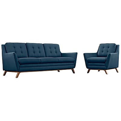 Modway Beguile Living Room Set Fabric Set of 2 in Azure (889654079132)