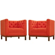 Modway Panache Living Room Set Fabric Set of 2 in Atomic Red (889654079354)