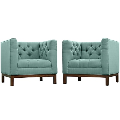 Modway Panache Living Room Set Fabric Set of 2 in Laguna (889654081418)