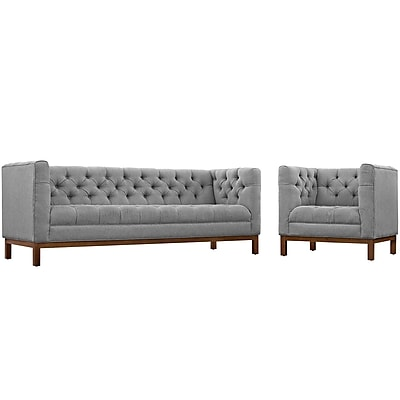 Modway Panache Living Room Set Fabric Set of 2 in Expectation Gray (889654081982)