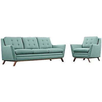 Modway Beguile Living Room Set Fabric Set of 2 in Laguna (889654079163)