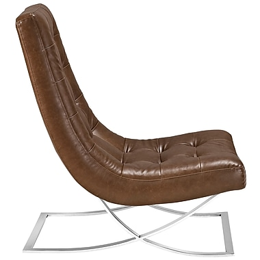 Slope Lounge Chair in Brown (889654039402)