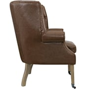 Chart Vinyl Lounge Chair in Brown (889654041085)
