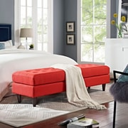 Modway Empress Bench in Atomic Red (889654040668)