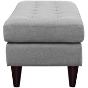 Empress Fabric Bench in Light Gray (889654040804)