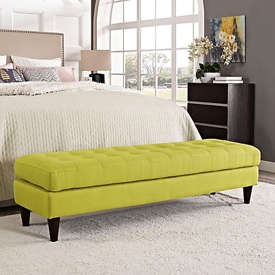 Modway Empress Bench in Wheatgrass (889654040743)