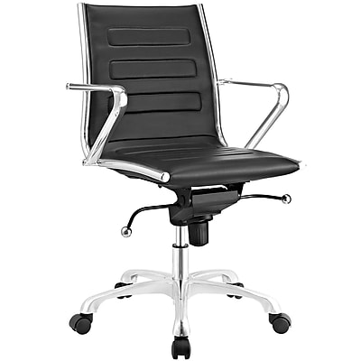 Modway Ascend Mid Back Office Chair in Black (889654067658)