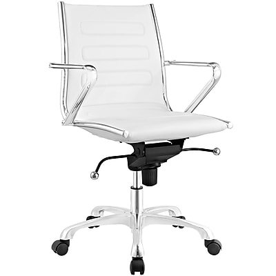 Modway Ascend Mid Back Office Chair in White (889654067696)