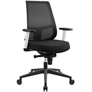 Modway Pump White Frame Office Chair in Black (889654067719)