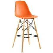 Pyramid Dining Side Bar Stool Set of 4 in Orange (889654077183)